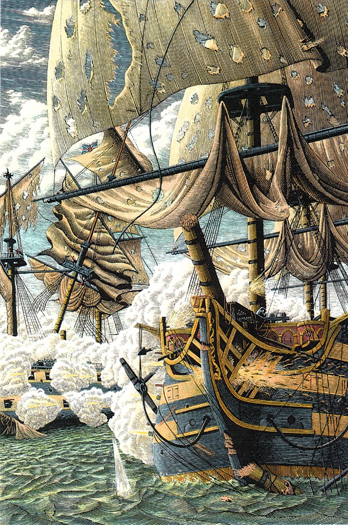 Richard Solomon - Douglas-Smith-250-Hornblower-ship-of-the-line