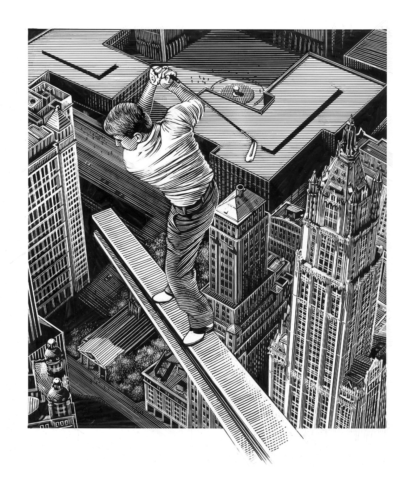 Richard Solomon - Kent-Barton_Golfer-on-I-beam018-copy