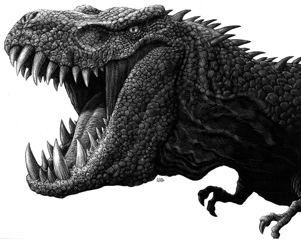 Richard Solomon - Ricardo-Martinez-206-T-Rex-Parque-JurAsico-4-copia