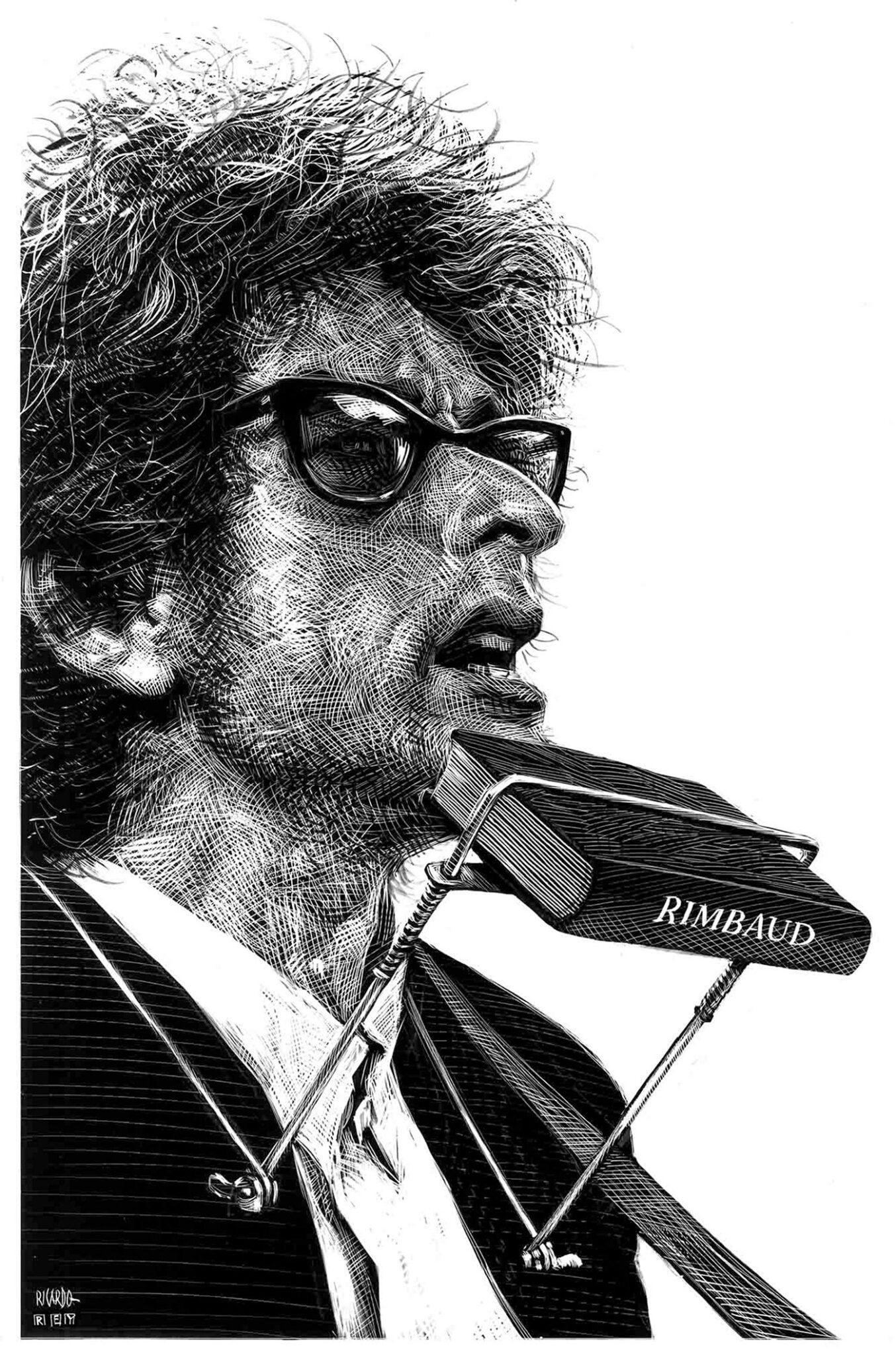 Richard Solomon - Ricardo-Martinez-269-Bob-Dylan-Rimbaud