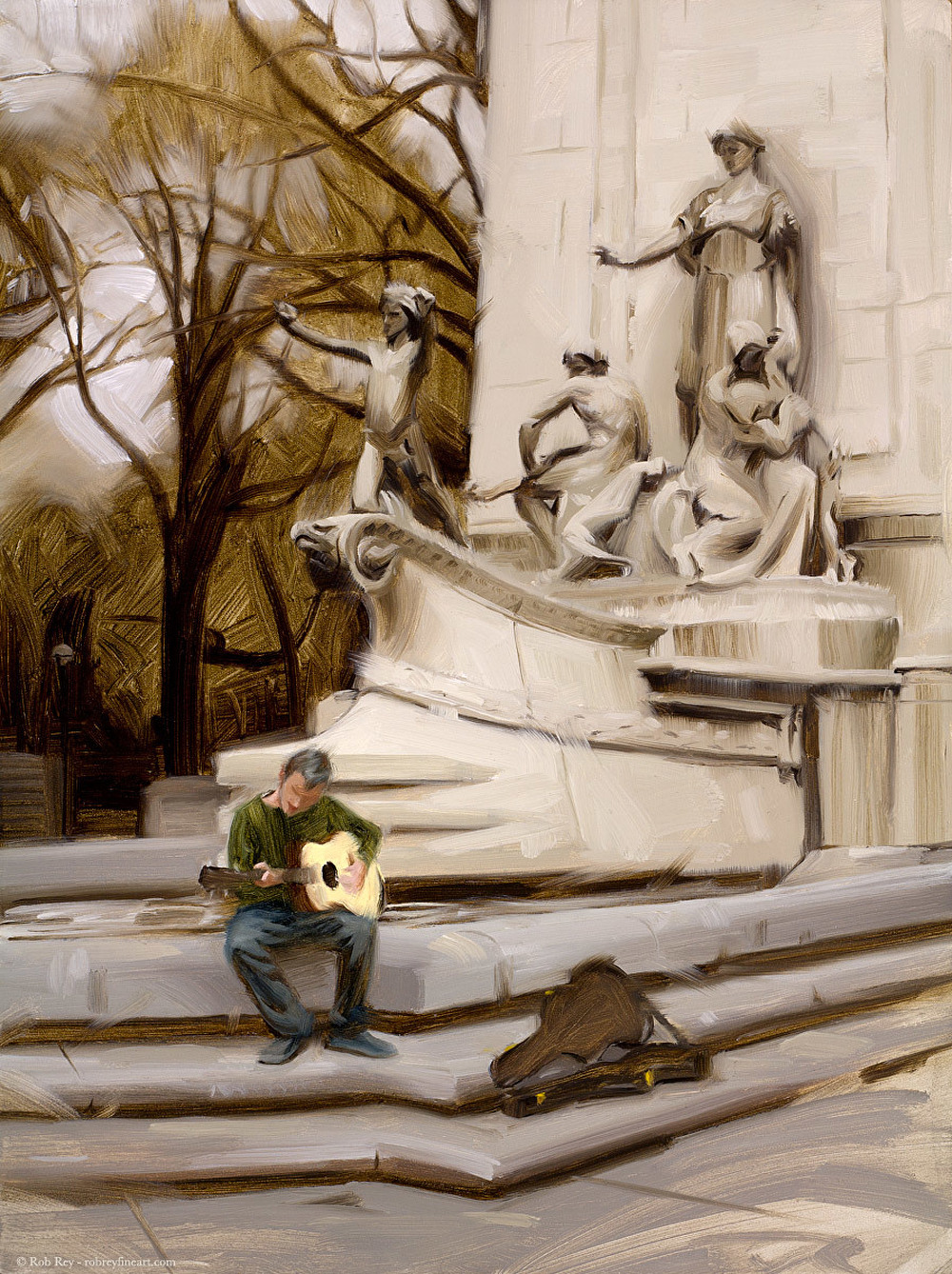 Richard Solomon - busking-in-central-park