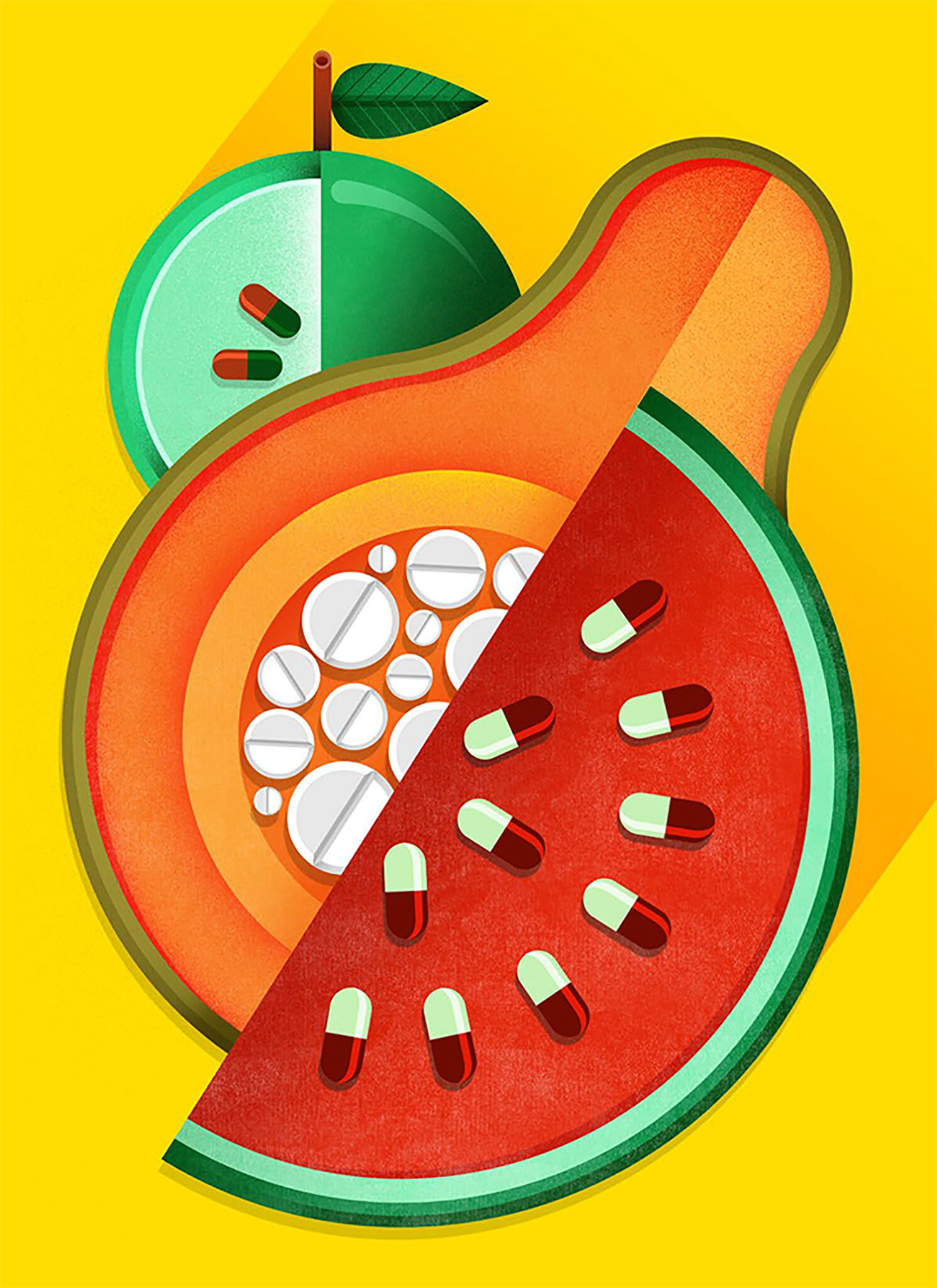 Richard Solomon - maria_corte_illustration_2la_repubblica_pills_fruiti