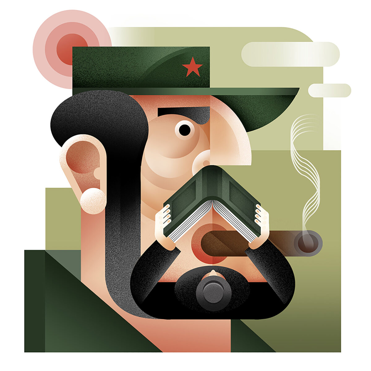 Richard Solomon - maria_corte_illustration_fidel_castro_2020