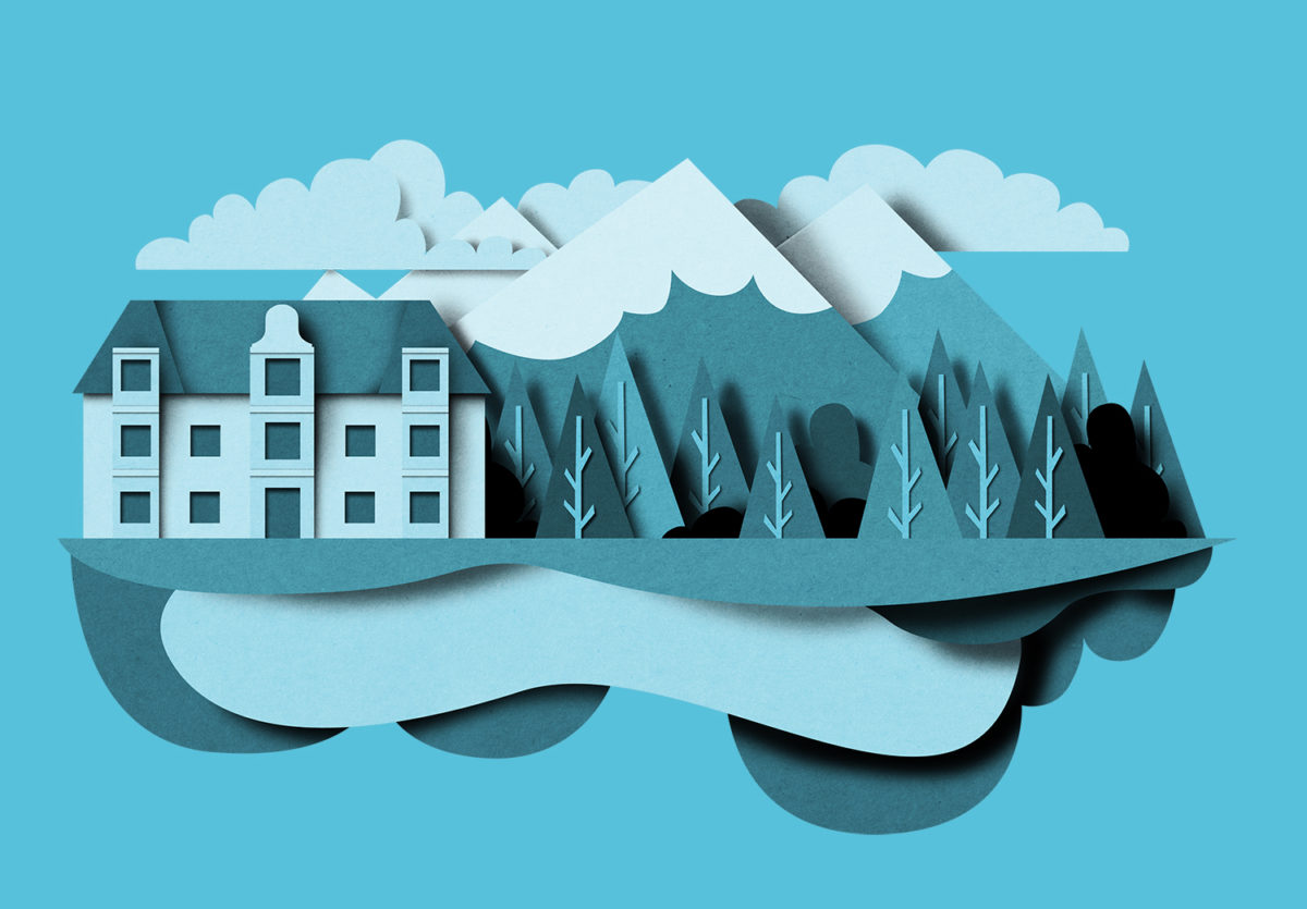 Richard Solomon - papercut_lanscape_mountain_holiday_blue_bomboland