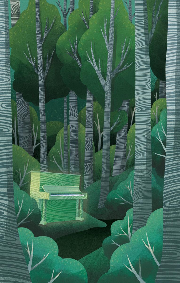 Richard Solomon - Mysterious Ways magazine - Green Piano - editorial - 2019